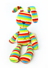 2016 High Quality 50cm Rabbit Plush Toys Rainbow Color Soft Bunny For Kids Babys Gift Cute
