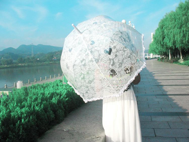 White Lace Wedding Umbrella Parasol Accessories Guarda Sol De Praia Printed Lace Bridal wedding Umbrella New 2015 Cheap(China (Mainland))