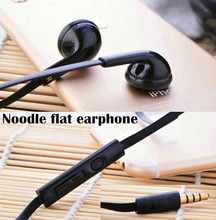Best earbuds With Mic and control operation noodle flat earphone 1.2m for Apple iPhone 4 4S 5 5S 6 6S xiaomi samsung