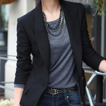 2015 бесплатная доставка новых пиджак женщин все матч тонкий маленький костюм пиджак Feminino S-XXXL XZ - 0011