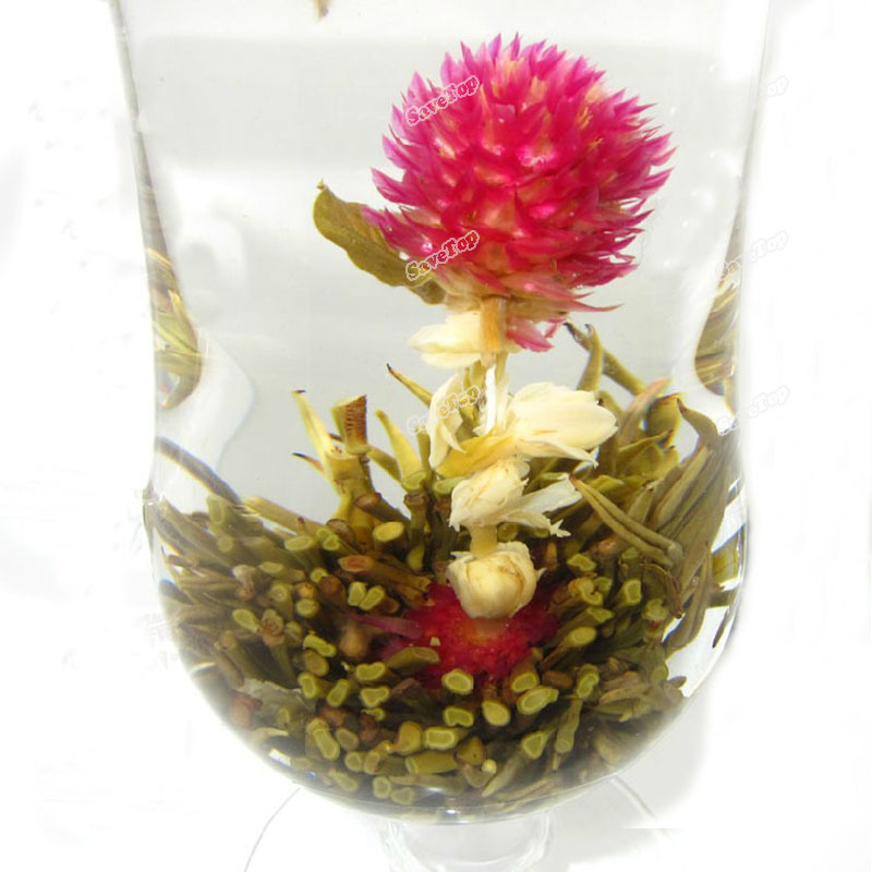 SaveTop New idea 1 10 20 Different Handmade New Designed Beautiful Blooming Flower Green Tea Ball Direct selling(China (Mainland))
