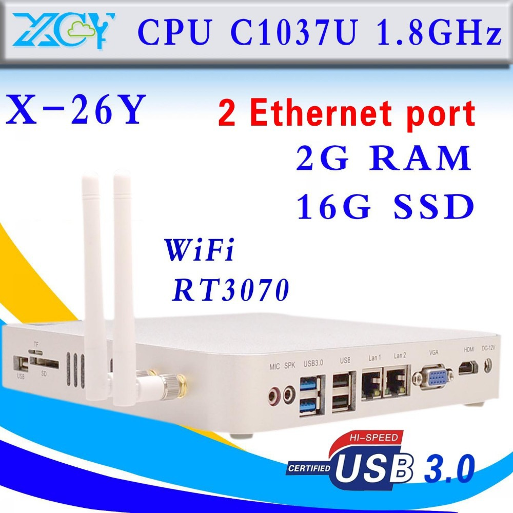 Hot C1037U 2gb Ram 16g Ssd Fanless Computer Industrial Pc Mini Computer Station Support Touch Screen Thin Client(China (Mainland))