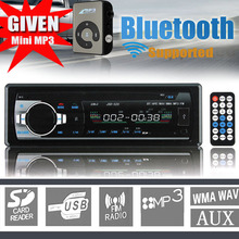 Free MP3 New 12v Bluetooth Stereo Radio Car MP3 Player in Dash Head Unit Electronics Subwoofer 1 Din USB/SD AUX FM(China (Mainland))