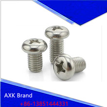 Buy 100Pcs M2 M3 ISO7045 GB818 Nickel-plated Pan Head Phillips Screws AXK95 for $1.49 in AliExpress store