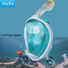 High Quality Brand YOLTO Scuba Diving Mask Full Face Snorkel Kids Women Men Swimming Training Equipment Blue(China (Mainland))