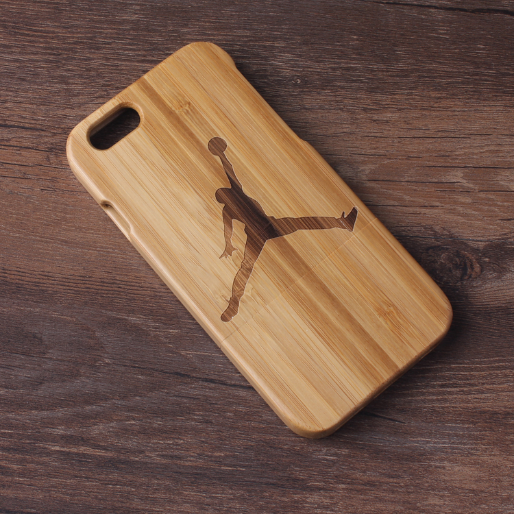 Natural handmade Jordan Pattern wooden wood case True bamboo cover Apple Iphone 6 4.7'' Shell Phone Cover - Case Kingdom store