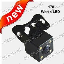 Free shipping 1pc/lot Universal Waterproof Night Vision Rear View Car Camera with LED lights for Auto Reversing System (RC010)