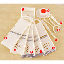 1Set Multifunction Vegetable Fruit Cutter Slicer Plastic Kitchen Tool Accessories Gadget 24.5x9x2cm