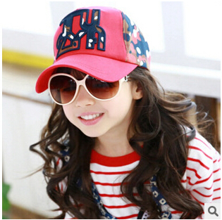 children cartoon summer baseball cap Baby Girlsand Boy's Hat Casquette Peaked Beret Cap Toddler Infant baseball caps YF-290(China (Mainland))
