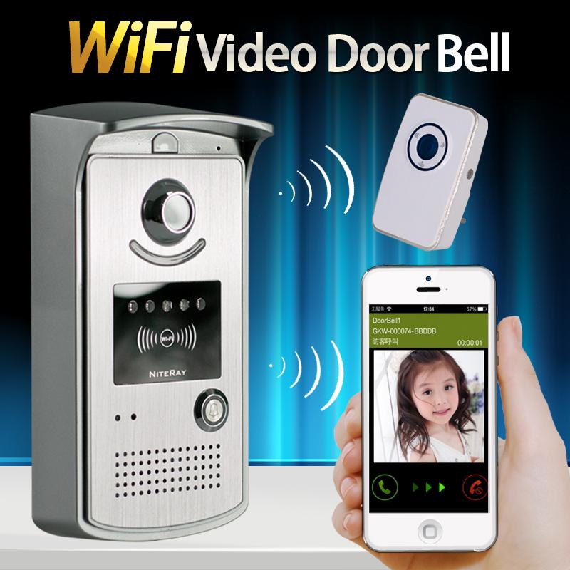 2016 Newest HD 720P Wifi Doorbell Camera Wireless Video Intercom Phone Control IP Door Phone Wireless Door bell IOS Android(China (Mainland))