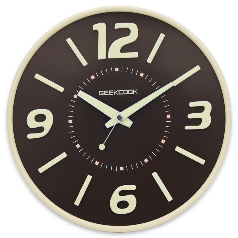 watch wanduhr home decor modern design vintage saat relojes pared decoracion wrought iron wall clock brown single metal round(China (Mainland))