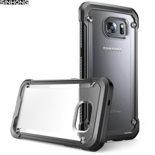 Buy Transparent Armor Shield Shockproof Case For Samsung Galaxy S7 S7 Edge Cover Back Clear Hard Plastic Frosted Soft Silicon Bumper for $4.99 in AliExpress store