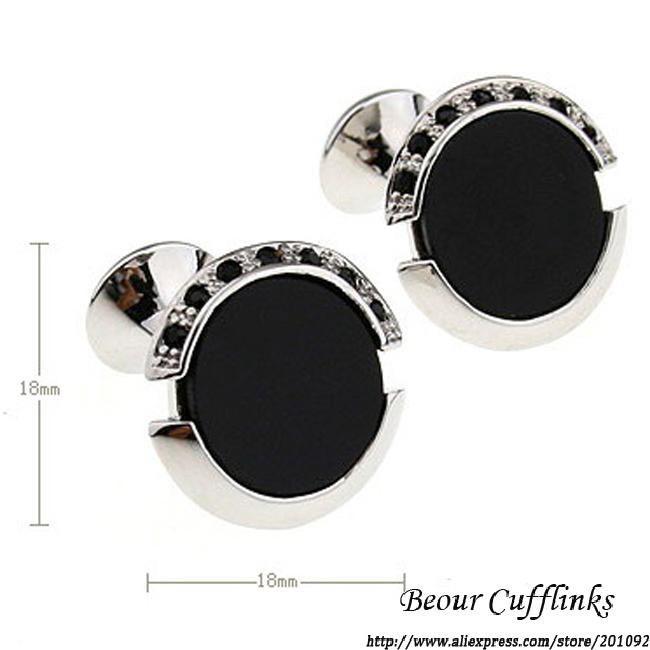 jewelry mb cufflilnks mens Extreme Black Onyx Mosaic Of Black Crystal Round Romance cuff links 6806 Free shipping(China (Mainland))