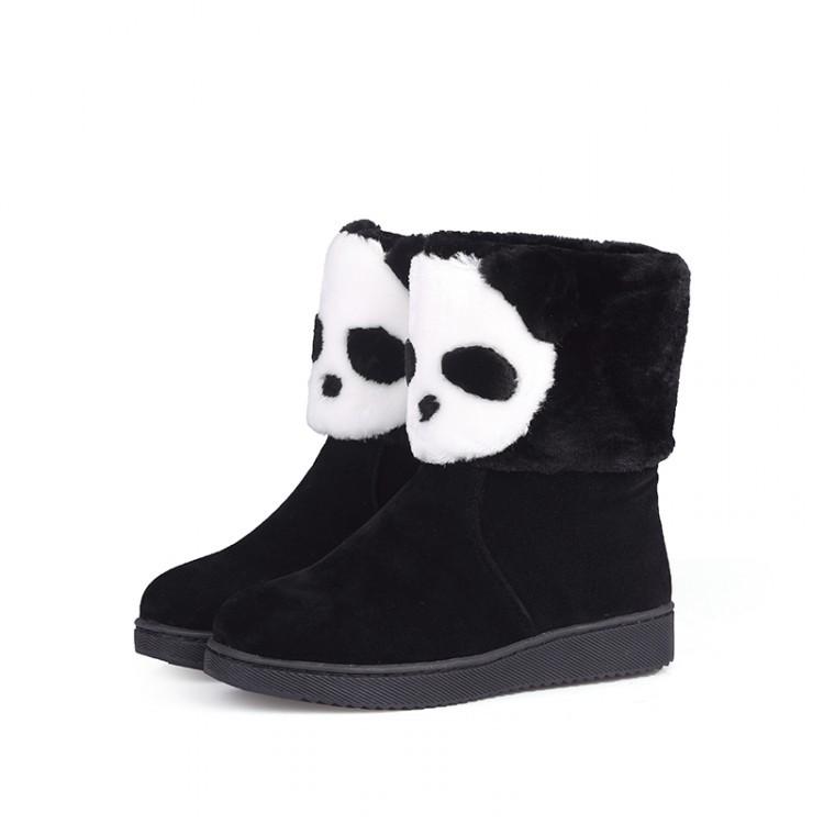 2016 Winter New Fashion Australia Classic UG Bailey Button Snow Boots High Quality Cartoon Boots Girl Panda Women Comfortable 35(China (Mainland))