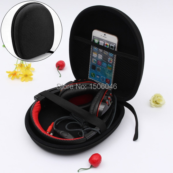 2015 Best Price Headphone Earphone Headset Carry Case Pouch For Sony V55 NC6 NC7 NC8 Small Data line Storage Bag(China (Mainland))