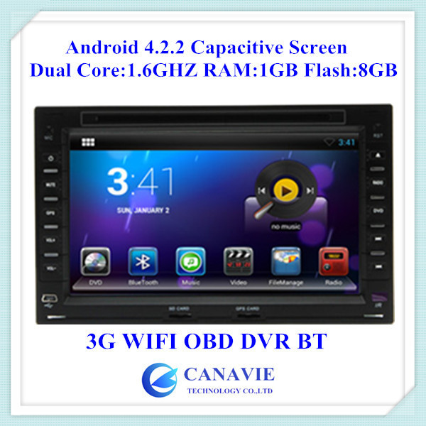 Pure Android 4.2.2 Car DVD for VW Jetta Polo Bora Golf 4 Passat B5 with 3G WIFI DVR OBDII Phonebook BT CPU 1.6GHZ RAM 1GB(China (Mainland))