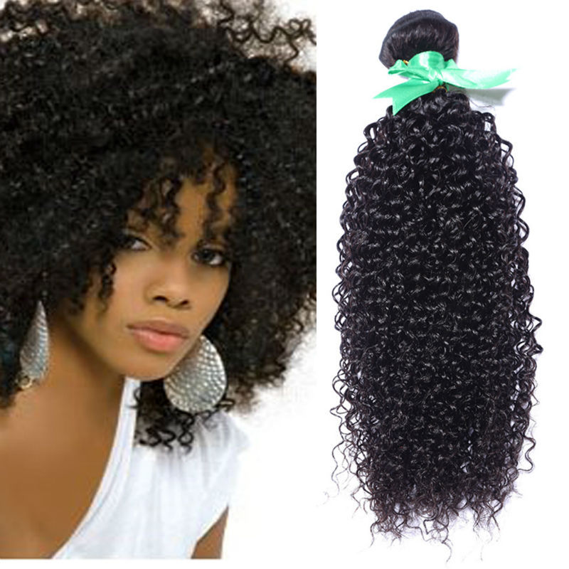 Cambodian afro Kinky Curly Virgin Hair 1pcs/lot 100%Human Hair Extension 8-30inch remy human hair weaves natural black hair wave