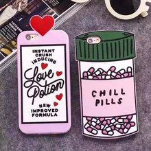 "Buy 3D Luxury Love Potion Chill Pills Bottle Phone Case Cover iPhone SE 5 5S 6 6S 7 7S 4.7"" & Plus 5.5 Soft Silicone Para Fundas for $3.28 in AliExpress store"