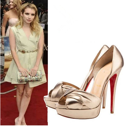 The New High With Waterproof Peep Toe High Heeled Bowtied Sandals Shoes Fashion Sexy Party Shoes Pumps Platform Shoes Woman