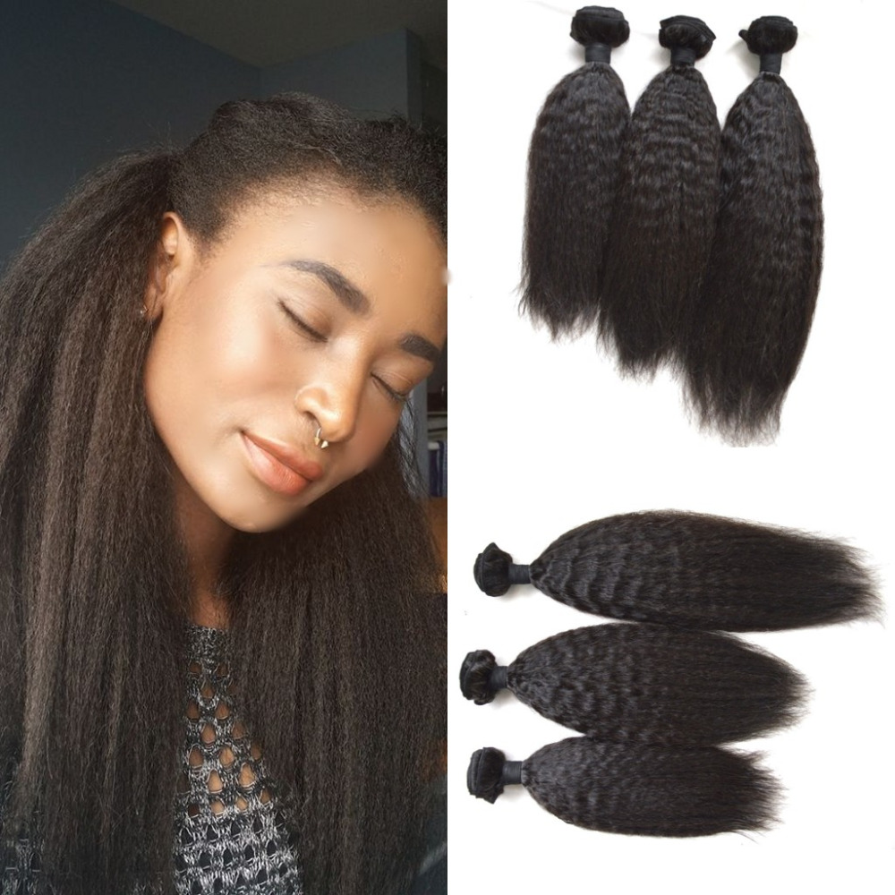 Rosa hair products Indian kinky straight,7A Indian virgin hair coarse yaki, unprocessed indian hair weave bundles human hair<br><br>Aliexpress