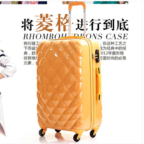24 inches luggage traveller case box Trolley suitcase Pull Rod trunk rolling spinner wheels ABS hard shell boarding bag<br><br>Aliexpress
