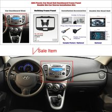 2 DIN ABS Plastic Frame Panel HYUNDAI i-10 2012 Aftermarket Radio Stereo DVD Player GPS Navigation Installation - ACP Store store