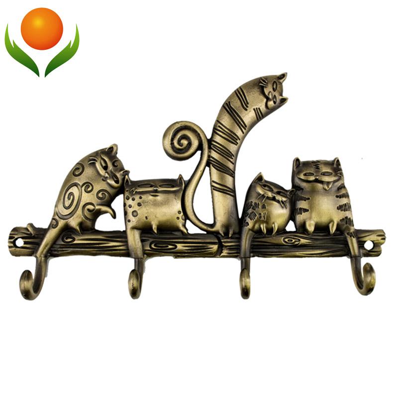 "Free shipping Cartoon""Coat rack hook ""cat""wedding decoration metal hook hanger Originality crafts . russian gift Souvenirs(China (Mainland))"