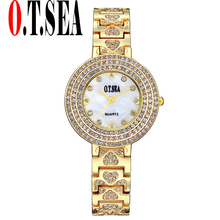Buy O.T.SEA Women Watch Top Brand Stainless Steel Watches Ladies Crystal Dress Quartz Wristwatches Relogios Feminino 2102 for $4.39 in AliExpress store