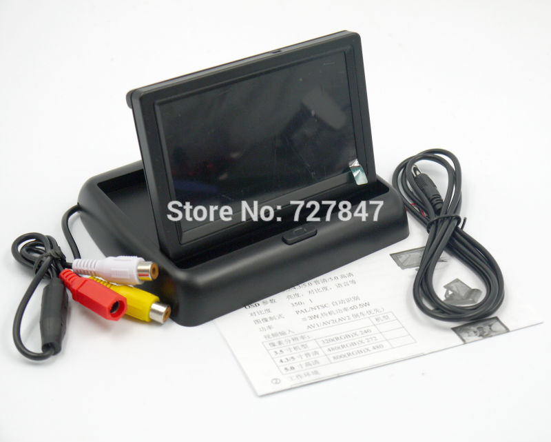 Folding 4.3 inch TFT Color LCD Screen Parking Sensor Video Monitor Car TV Rearview Backup for FPV 250 300 450 500 Multicopter(China (Mainland))