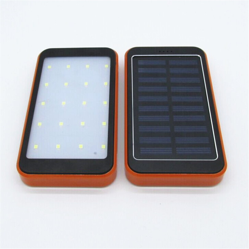 NEW Brand waterproof solar power bank With camping lights Powerbank backup Power Supply battery charger For all phones