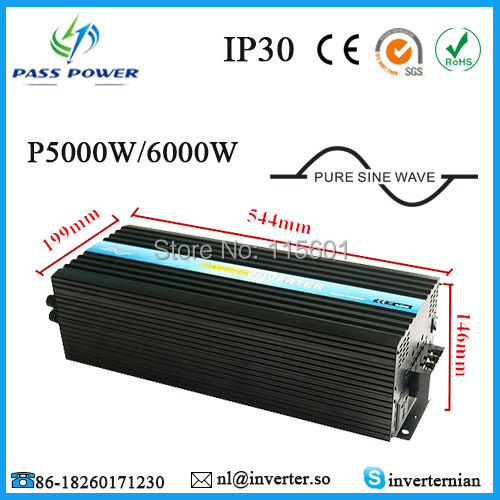 High Power Inverter for Air-condition/Refrigerator/ Pump, CE ROHS Certificate, Off grid solar inverter, Inverter 5000w(China (Mainland))