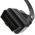 16 Pin OBD2 OBDII Cable Extension Splitter 33cm Male to Dual Female Y OBD Cable Diagnostic
