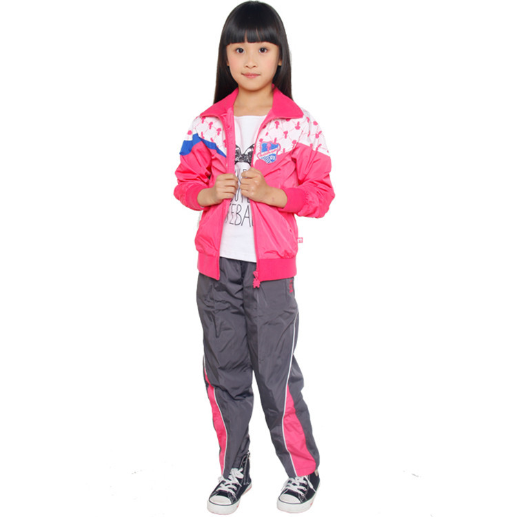 2015 spring and autumn new style baby girls fashion clothing sets little girls active coats and pants YGS31258(China (Mainland))