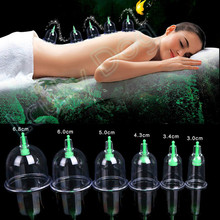 6Pcs/lot Health Anti Cellulite Slimming Cupping Helper Vacuum Body Face Massager Cups Set Vibrator(China (Mainland))
