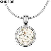 SHDEDE High Quality Necklace Pendants Crystal from Swarovski White Gold Plated Fashion Jewelry Trendy Bijouterie For Women 531