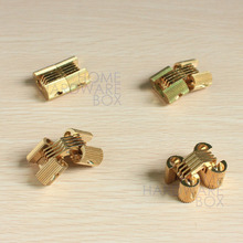 "4 pcs hidden hinge invisible hinges concealed barrel golden brass 1""(China (Mainland))"