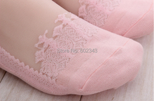 Hot sales Colorful Ultrathin Transparent Beautiful Crystal Lace Elastic Short Women Socks Calcetines Pink Sock for