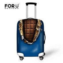 Elastic Clear Chocolate Style 18/20/22/24/26/30 inch Trolley Luggage Protector Cover Anti-dust Waterproof Travel Suitcase Cover(China (Mainland))