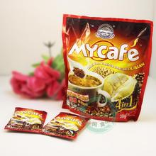 Top grade Mycafe famous brand Malaysia Durian coffee 570g instant white coffee 100% orginal&natural 4 in one powder green food