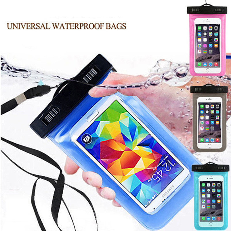 100% Sealed Waterproof Bag Pouch Phone Case Universal 5.5inch For Samsung S3 S4 S5 For LG G2 G3 G4 Nexus 5