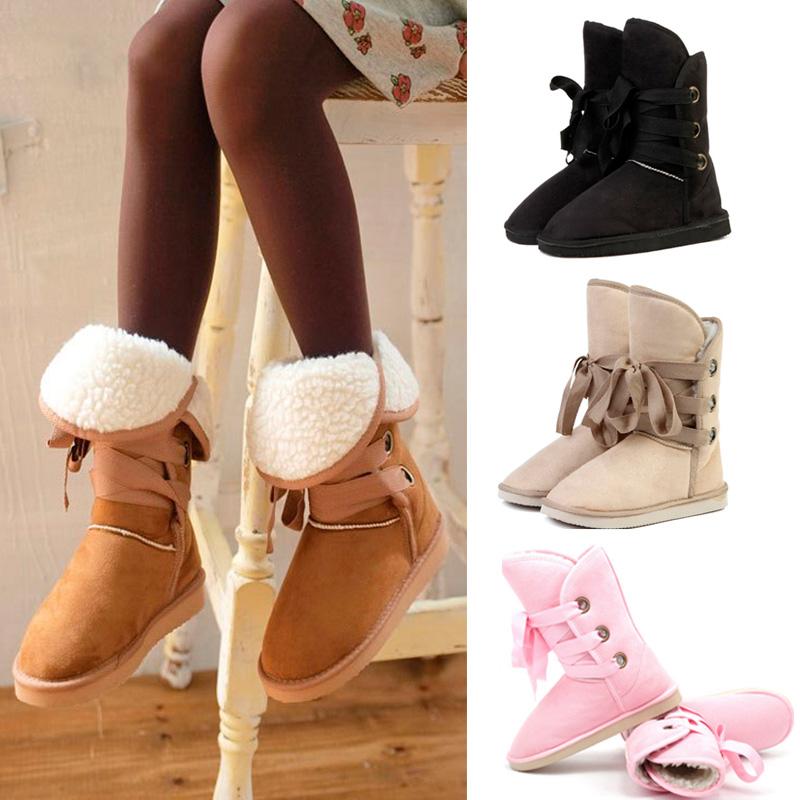 Fashion Women Girls Flat Heels Autumn&Winter Warm Snow Boots Black/ Beige/Camel 88 BS88(China (Mainland))