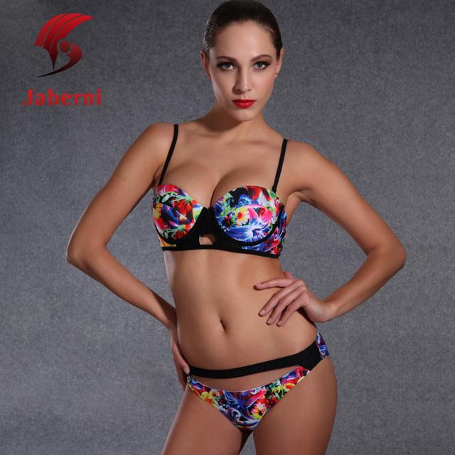 2016 бразильских тропических цветочный купальники сексуальная задница купальник росту печать дамы бикини установить ремень Pin Up женщины пляж боди
