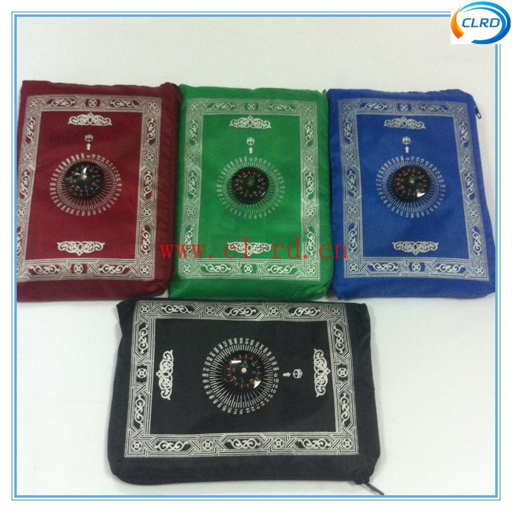 10pcs/lot Travel Prayer Mat Muslim Islamic Best Gifts Zipper Prayer Mat With Compass QURAN