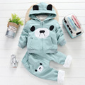 Thumbaby Winter Boys Clothing sets Cotton Children Clothing Boys Letter Coat Pants 2Pcs Boys Clothing For