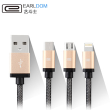 Earldom 3 in 1 mobile phone cables micro usb cable USB Type C Cable lightning USB Cable for iPhone 6s Samsung One Plus 2 Xiaomi