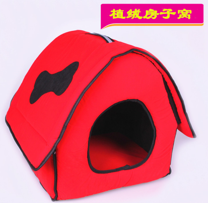 2015 new arrival soft pet bed cloth dog house kennel cute for Soft indoor dog house large