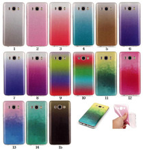 Glitter Shinning Gradient Color Soft TPU Case Samsung Galaxy J120 J1 J3 J5 J7 J510 J710 G530 2016 Protector Shell Cover - Mobile Phone Cases & Bags store