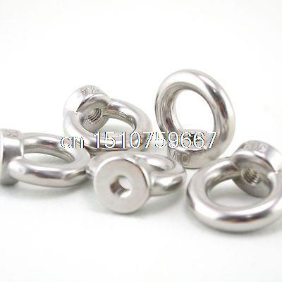 5PCS M24 Metric Threaded Eyes Nuts 304 Stainless Steel Lifting New(China (Mainland))