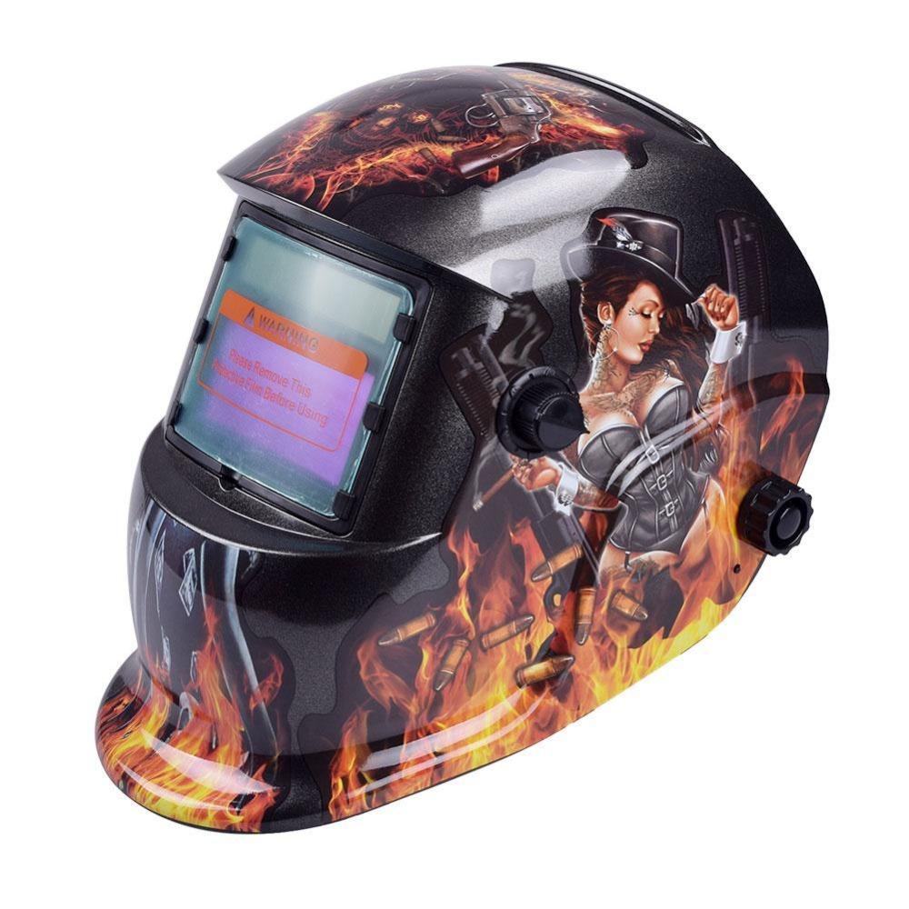 Promoci n de casco de soldadura solar compra casco de - Mascara de soldadura ...