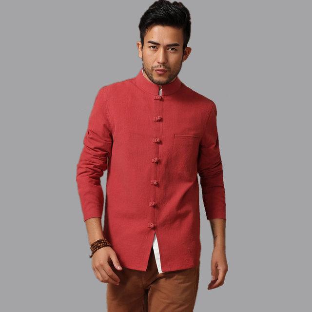 Горячая распродажа красный китайский мужская хлопок белье кунг-фу куртка пальто с ...